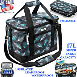 Large Waterproof Cooler Bag Leakproof Insulated Foldable 17l Lunch Bag Picnic