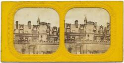French Tissue Stereoview Musée De Cluny Paris 1870c Colored From Back S133