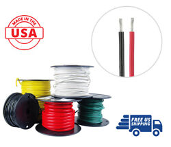 18 Awg Marine Wire Tinned Copper Boat Cable 100 Ft Red 100 Ft Black Usa Made