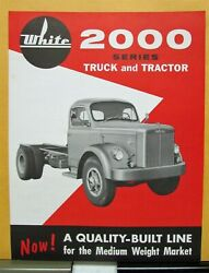 1959 White Truck Model 2000 And 2000t Sales Brochure And Specifications