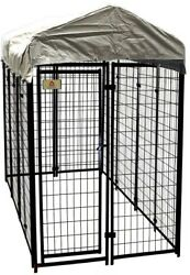 Dog Fence Kennel Kit House Cage Medium Large Pet Cover Welded Wire 4 x 8 x 6 ft