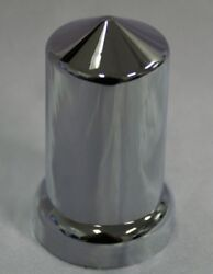 20 X Wheel Nut Covers 33mm Pointed Chrome Kenworth,freightliner,western Star