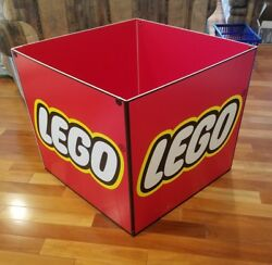 """Rare Lego Toys R Us Store Display Fixture Sign Cube 28"""""""
