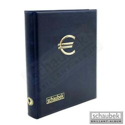 Schaubek A-rb9503 2-euro-coin Album Incl. 5 Sheets To Hold 100 Coins Blue