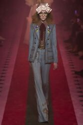 *GUCCI* Runway Stud Embellished Denim Jacket in stores Now IT 40