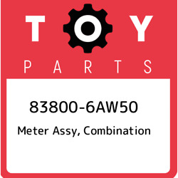 83800-6aw50 Toyota Meter Assy Combination 838006aw50 New Genuine Oem Part