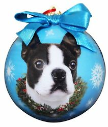 Boston Terrier Christmas Ornament Shatter Proof Ball Easy To Personalize ... New