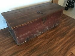Authentic Sea Chest. From Boston, Mass. With Skeleton Key.