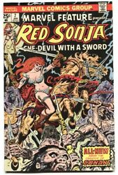 Marvel Feature 2 Comic Book Red Sonja 1976-marvel