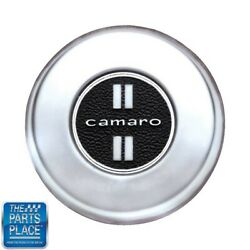 1968-68 Camaro Deluxe Steering Wheel Horn Cap Button Brushed Chrome Gm 3928354