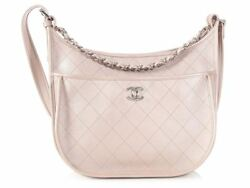 New CHANEL 2018 Large Rosegold Quilted Caviar Jungle Stroll Crossbody Bag Purse