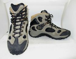 Merrell Mens Sage Green Black Suede Chameleon Ventilator Hiking Ankle Boot SZ 10