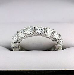 Custom Made 5.0cwt Diamond Eternity Ring Band 18K White Gold