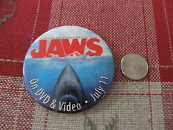 Vintage Pin Pinback Jaws On Video And Dvd