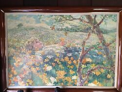 ORIGINAL PAINTING SIGNED BY CORINNE HARTLEY LISTED CALIFORNIA ARTIST Oil Canvas