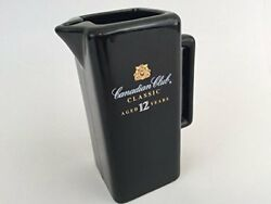 Canadian Club Classic Black Ceramic Pitcher Collectible Barware Aged 12 Years