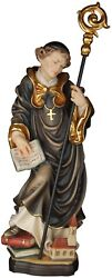 Statue Saint Roberto With Chiesa. St.robert With Church Woodcarved Look Statue