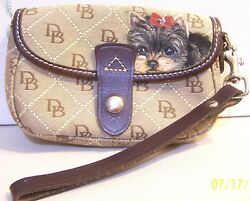 HAND PAINTED  YORKSHIRE TERRIER  DOONEY & BOURKE WRISTLET