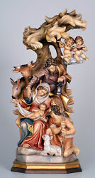 Presepe Raph. In Legno - Complete Crib Woodcarved Full Color