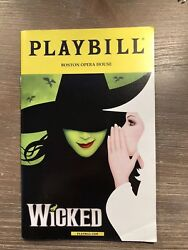 Wicked Tour Playbill Jessica Vosk