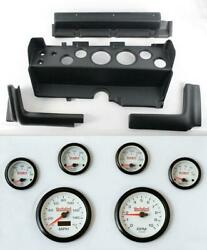 70-74 Mopar E-body Black Dash Carrier Concorse White Face Gauges