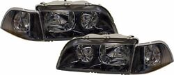 BLACK  SMOKED HEADLIGHTS HEADLAMPS + CORNER SIGNALS FOR VOLVO S40 V40 97-42000