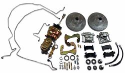 1955-1957 Chevrolet Power Front Disc Brake Kit With Tubular Control A Arms
