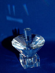 Collectible Umbrella Crystal Dreidel With Stand , Hebrew Letters 2 X 2 X 3