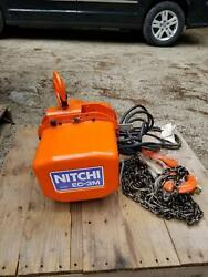 New Nitchi 2 Ton Electric Chain Hoist Ec-3m 3phase 200v 3m Lift Made In Japan