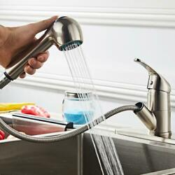 Hot Home Kitchen Faucet Pull Out Sprayer Single Hole Swivel Sink Mixer Tap