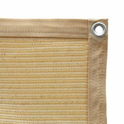 Shatex 90 Shade Fabric Sun Shade Cloth With Grommets For Pergola Cover Wheat