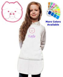 Personalized Kids Apron with Piggy Pig Embroidery Design $20.98