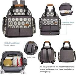 Expandable Diaper Bag Backpack Tote Messenger For Mom And Girl Taxfree Sale
