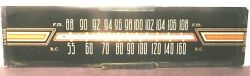 Vintage Philco 49- 1611 Console Glass Station Graphic  11 And 11/16 X 3
