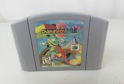 Chameleon Twist 2 (Nintendo 64 1998) n64 Game - Tested Works - Authentic ! Rare