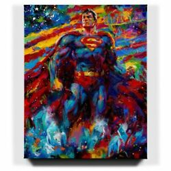 Blend Cota Superman Last Son Of Krypton 32 X 40 S/n Le Gallery Wrapped Canvas
