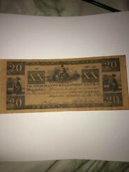 Magnolia Florida-20 Merchants And Planters Bank -obsolete Money 1833 Numbered
