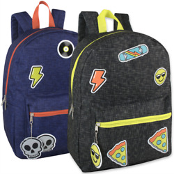 Wholesale 16.5 Inches Kids Backpack With Bonus Key Chain for Boys-Case pack 24