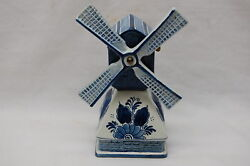 Rynbende And Sons Delft Blue Spinning Windmill Anno 1453 - Music Box - Works