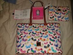 Brand New Disney Dooney & Bourke Princess Ears Tote Crossbody and MagicBand Set
