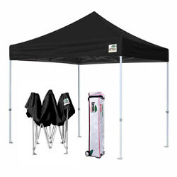 Eurmax Pop Up 10x10 Canopy BEYOND Commercial Patio Tent Shelter+Roller Bag BLACK
