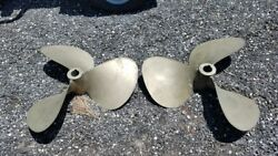 FEDERAL SUPER CUP 3 BLADE NIBRAL 28 X 32 LHRH BOAT PROPS PROPELLERS SET OF 2