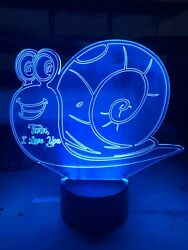 Snail Led Night Lamp - Personalized Free - 16 Color Night Light Led W/ Remote