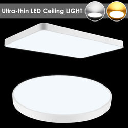 Ultra-thin LED Ceiling Light Dimmable Bedroom Panel Study Fixtures Flush Mount