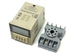 Omron H3ca-8 Solid State Timer 0.1s-9990h 7 Range W Potter And Brumfield Relay Skt