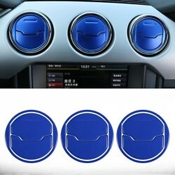 Dashboard Air Conditioner Outlet Vent Cover Decoration For Ford Mustang 2015-18