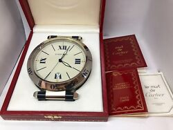 Pasha De Steel Desk Antique Clock, Extremely Rare With Box And Papers