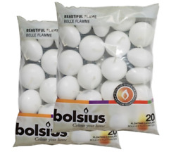 Bolsius White Floating Candles Pack of 40