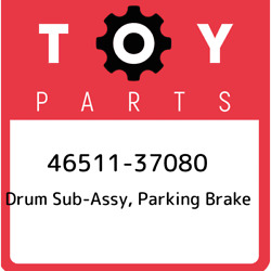 46511-37080 Toyota Drum Sub-assy Parking Brake 4651137080 New Genuine Oem Part