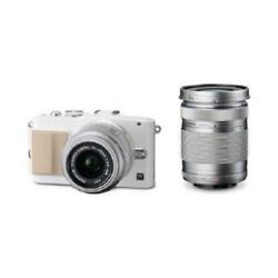 Used Olympus E-pl5 16mp With 14-42mm + 40-150mm White Excellent Free Shipping